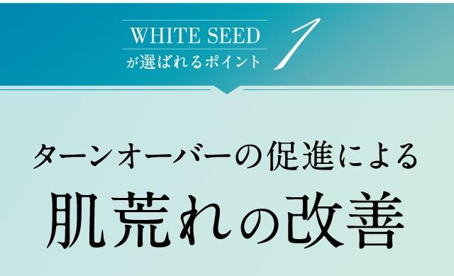 WHITE SEEDが選ばれるポイント1 ターンオーバーの促進による肌荒れの改善